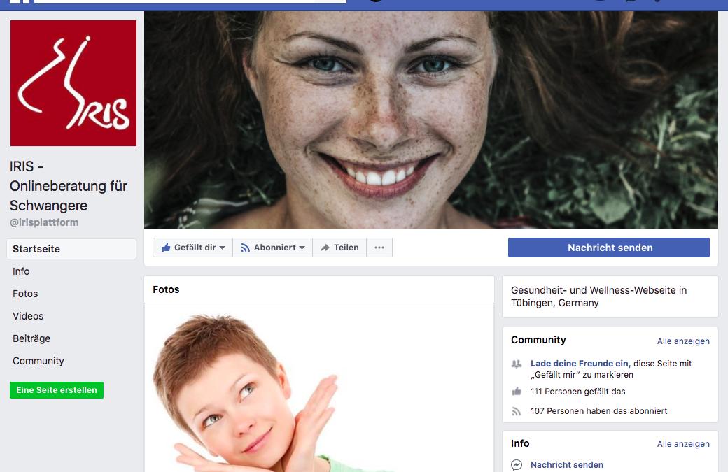 Neue Website IRIS: Onlineberatung für Schwangere