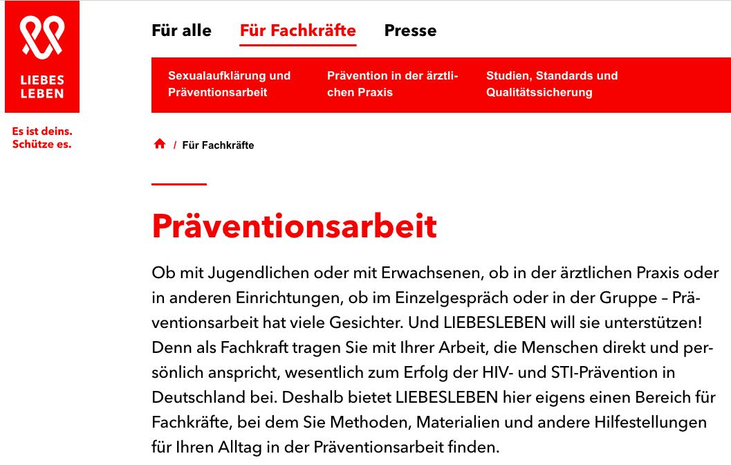 Liebesleben(.)de: Aufklärung und mehr