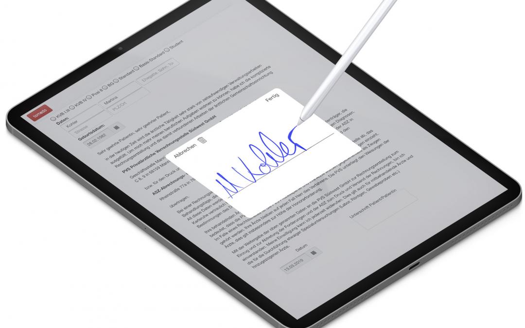 Innovative tomedo-Funktion: Stammdaten via iPad-Formular
